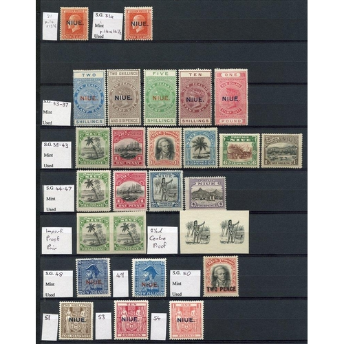 1248 - Collection on double sided stock leaves with 1902 2½d, P.14 ½d (2) - one spaced 'U' & 'E,' 1d (6) et...