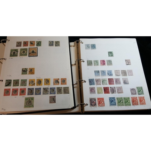 125 - BRITISH AFRICA collection in two volumes (chiefly U) from Nyasaland, Malawi, Lagos, Nigeria, Sierra ...