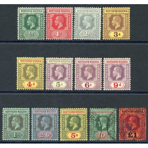 1259 - 1912 MCCA set to 5s M, 10s & £1 VFU, SG.40/52. (13) Cat. £220...