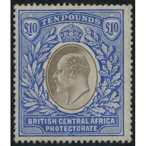 1267 - 1903-04 £10 grey & blue, unused (some gum present - possible re-gummed), SG.67. (1) Cat. £8000...