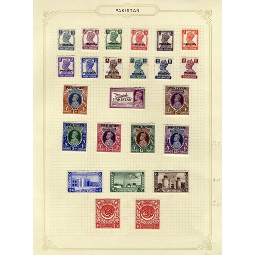 1273 - 1947-67 fine M collection on leaves incl. 1947 Defin set, 1948 Defin set + perf variations, 1951 Fou...