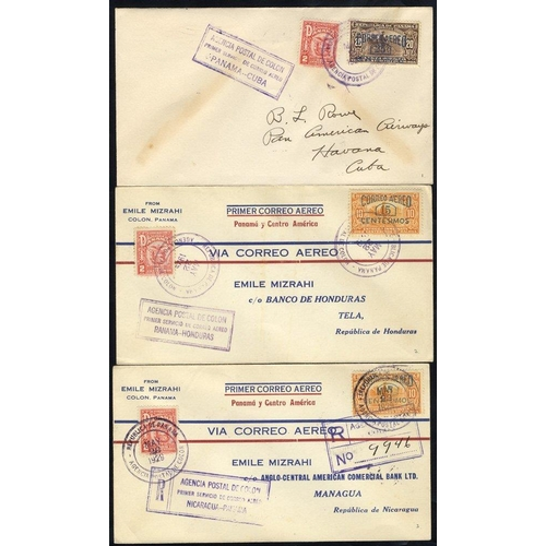 1275 - 1929 first flight covers, PAA FAM 5 Colon/Havana (125 flown), another Colon/Tela, Honduras (139 flow...