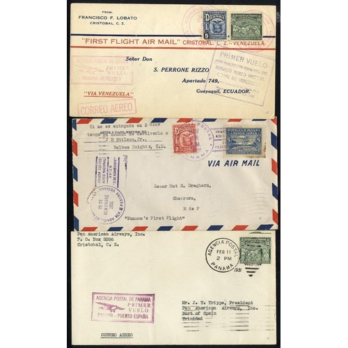 1277 - 1930-46 first flight covers, PAA Colon/Puerto Cabello - Venezuela 4.5.30, PAA FAM 5 Panama/Port of S...