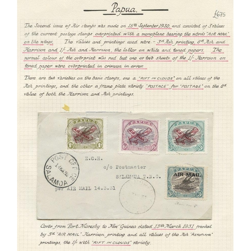 1283 - Airmails: 1931 (Mar 14) Port Moresby-Salamaua flown cover, bearing 1929-30 Air 3d, Harrison printing...