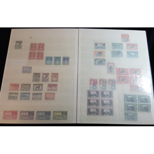 129 - BRITISH WEST INDIES & B.N.A in stock book with various KGV low values incl. commems in M blocks of f...