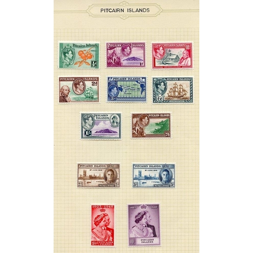 1310 - 1940-67 fine M collection on leaves incl. 1940 KGVI Defin set, 1948 Wedding set, 1949 UPU, 1957, 196...
