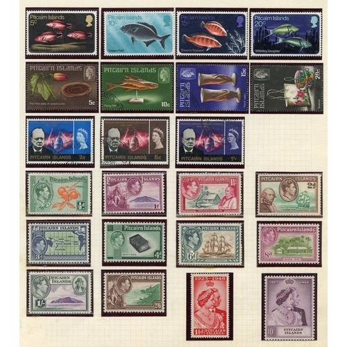 1311 - Collection on leaves with 1940 full set M, 1948 Wedding UM, 1957 to 2/6d M, 1949 UPU, 1965 ITU etc. ...