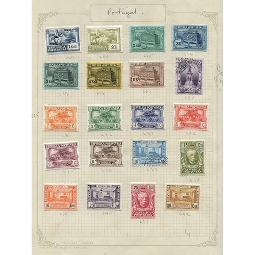 1315 - 1924-28 chiefly M range on leaves incl. 1924 400th Birth Anniv of Camoens set to 10E M & 20E FU, 192...