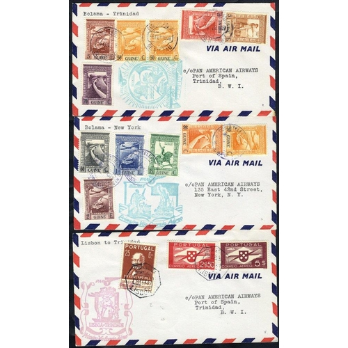 1317 - 1936-45 flight covers incl. Crilly Airways first flight Lisbon/London 4.2.36, another official cover...