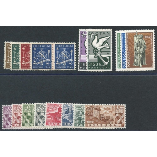 1319 - 1945 Naval School centenary set in UM pairs, SG.985/8, 1946 Castles set UM, SG.989/96 (1E.75 blue - ...