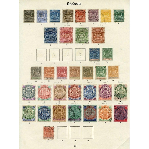 1331 - 1892-1909 collection on printed leaves comprising 1892 to 5s U, 10s & £1 M, £2 - £10 fiscals, 1892-9...