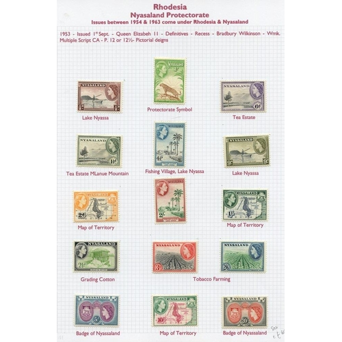 1338 - THE RHODESIAS 1892-1970's M & U collection housed in an Alpha Major album incl. several defin sets. ...