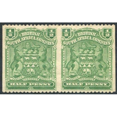 1345 - 1898-1908 ½d heavily hinged M horizontal pair IMPERF VERTICALLY (SG.78a), also tiny thin on left sta...