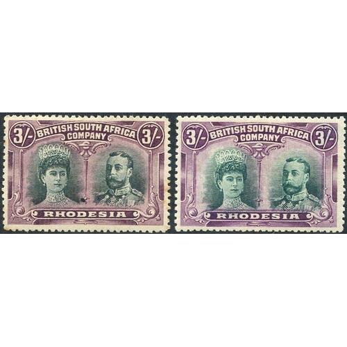 1360 - 1910-13 3s Double Heads, SG.158 (a few minor tones) & RSC 'A,' fine M, Cat. £500...