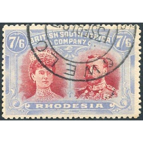 1366 - 1910-13 7/6d carmine-red & bright (grey) blue, RSC 'C' c.t.o remainder. (1)...