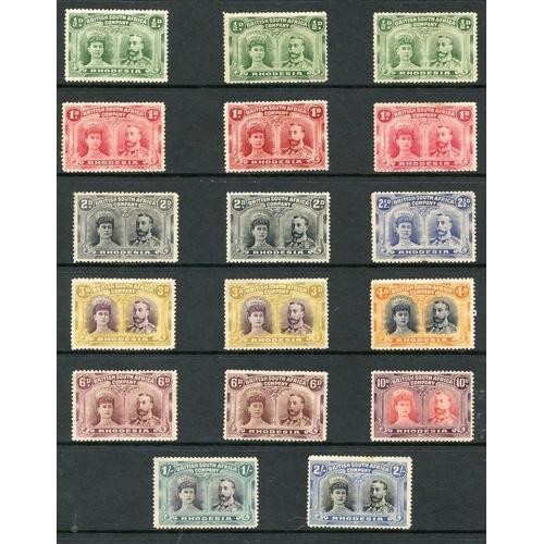 1369 - 1910-13 perf 14 double heads M or o.g range ½d (3), 1d (3), 2d (2), 2½d, 3d (2), 4d, 6d (2), 10d, 1s...