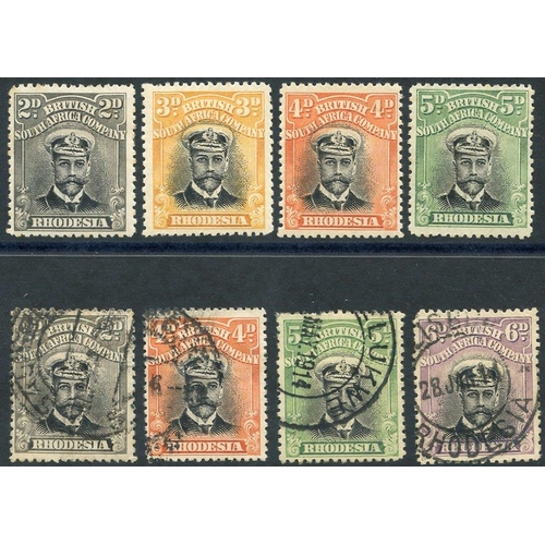 1370 - 1913-22 Admirals Die I with values 2d, 3d, 4d & 5d M & 2d, 4d, 5d & 6d U - all Perf 14. (8) Cat. £23...