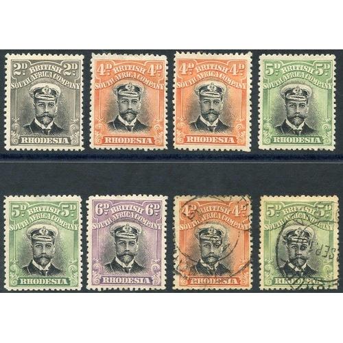 1371 - 1913-22 Admirals Die I Perf 14 vals comprising 2d, 4d (2), 5d (2), 6d M & 4d, 5d U. Cat. £370...