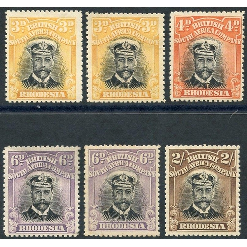 1372 - 1913-22 Admirals Die I Perf 15 vals as follows: 3d (2), 4d, 6d (2) - one with thin & 2s. Cat. £230...