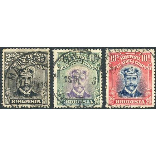 1375 - 1913-22 Admirals Die II Perf 15, values 2d, 8d & 10d U, Cat. £245. (3)...