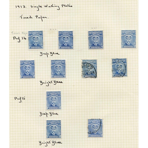 1378 - 1913-22 Admirals selection on seven album pages comprising Perf 14 ½d M (8) & U (20), 1d M (12) & U ...