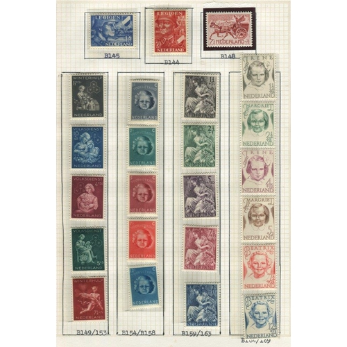138 - BENELUX collections housed in two albums with Belgium 1914-60's M or UM fine ranges of sets & M/Shee...