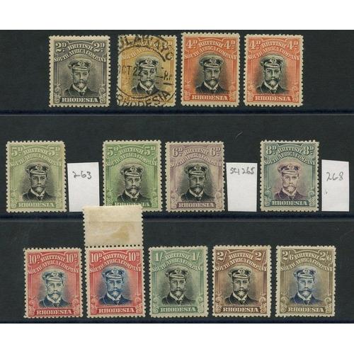 1382 - 1913-22 Die III Perf 14 Admirals, U selection incl. 2d, 3d (2), 4d (2), 5d VFU, 6d, 8d, 1s (3) & 2s....