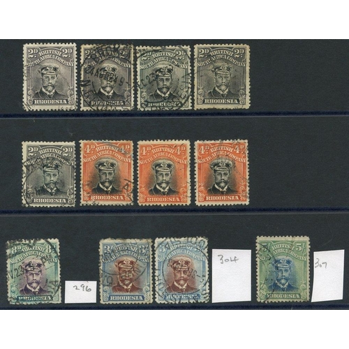 1383 - 1922-24 Die III Perf 14 Admirals, selection incl. 2d (5), 4d (3), 8d, 3s (2) - SG.304, 5s, all U, so...