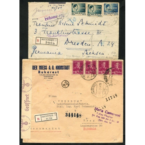 1386 - c1929-40's covers & cards with airmail, registered, censored etc. with better frankings plus a handf...