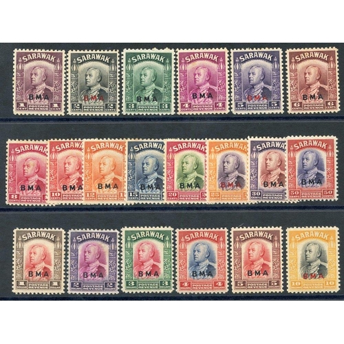1409 - 1945 BMA optd set UM (some toning or tones are present) SG.126/145. (20) Cat. £550...