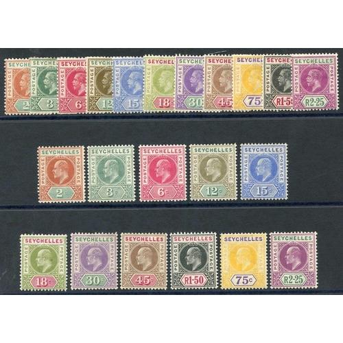1415 - 1906 MCCA set & 1912-16 MCCA set fine M SG.60/70, 71/81. Cat. £240...