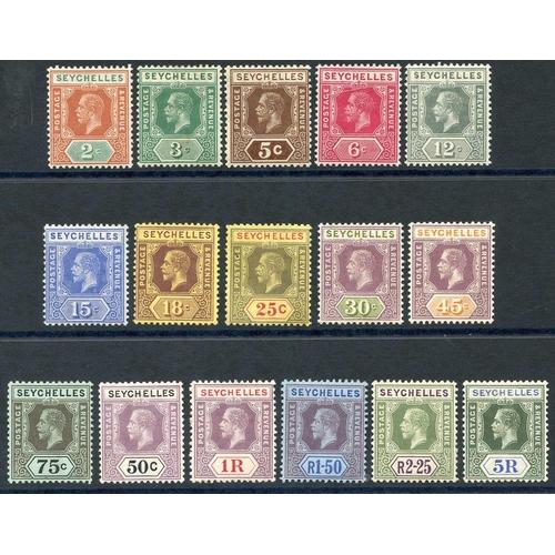 1416 - 1917-22 MCCA set fine M, SG.82/97. (16) Cat. £225...