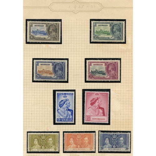 1420 - Collection in album with 1935 Jubilee, 1948 Wedding, 1949 UPU, 1938 to 5r (incl. good 1r, 75c etc), ...