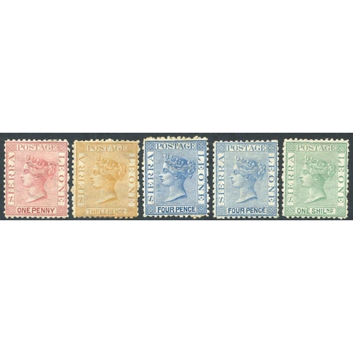 1425 - 1872-73 CC Perf 12½ wmk sideways 1d rose-red, 4d blue & 1s green, large part o.g (not guaranteed) wi...