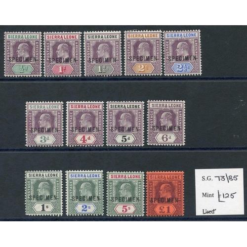 1434 - 1903 CCA set optd SPECIMEN fine M, SG.73s/85s. (13) Cat. £250...