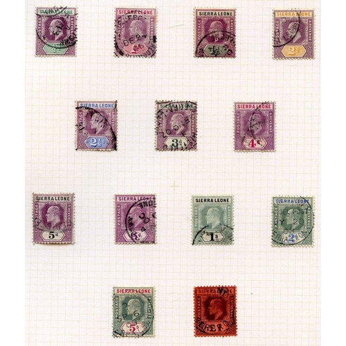 1435 - 1904-05 MCA ½d o £1 & 1907-12 MCA ½d to £1 sets of thirteen, FU, SG.86/98, 99/111, Cat. £700...