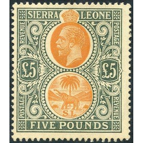 1436 - 1912-21 MCCA £5 orange & green, fine M, SG.130, RARE. (1) Cat. £3250...
