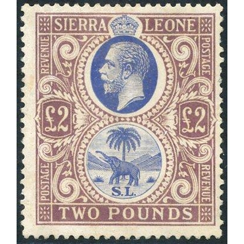 1437 - 1923 MSCA £2 blue & dull purple, M (odd blunt perf at right side), SG.147 (1) Cat. £850...