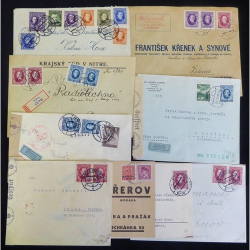 1446 - 1939-42 covers incl. early overprints, a range of frankings & airmail covers to the Protectorate wit...