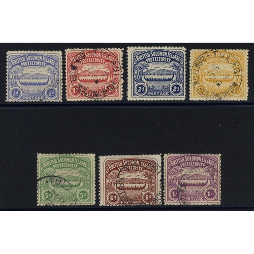 1448 - 1907 Canoe set, FU (2d is unused, 5d is thinned), mainly fine c.d.s examples, SG.1/7. (7) Cat. £300...