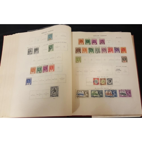 145 - BRITISH EMPIRE 1840-1936 chiefly U collection in a New Ideal album, general ranges but fairly sparse...