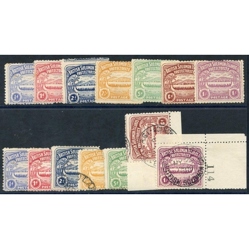 1450 - 1907 set to 1s unused or o.g, ½d, 1d (small gum tones), also set to 1s U (½d, 5d o.g) - the 6d & 1s ...