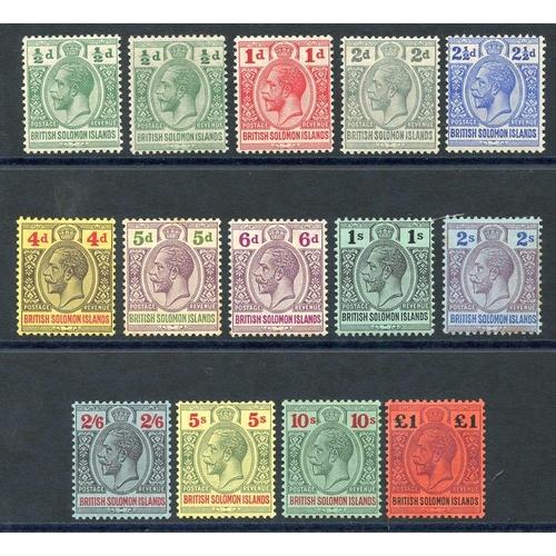 1454 - 1914-23 Postage Revenue set fine m ( 1 x 5d) SG.22/38. (14) Cat. £425...