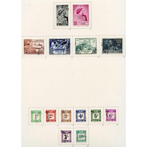 1455 - 1937-51 collection U on philatelic leaves with basic issues, complete plus Dues, also the 2d & 3d pe...