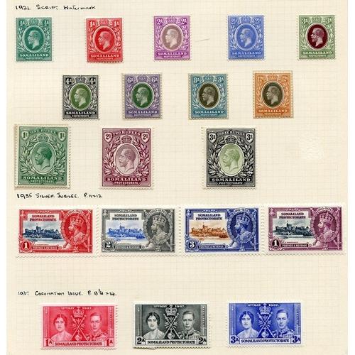 1456 - 1903 2½a to 1r M, SG.18/21, KEVII ½a to 8a M SG. 25/30, 1905 MCCA set M, SG.45/53, 1921 MSCA set M, ...
