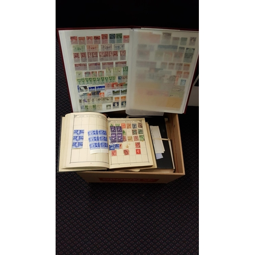 146 - MISCELLANEOUS ACCUMULATION in carton with stock book containing 'back of the book' material incl. Re...