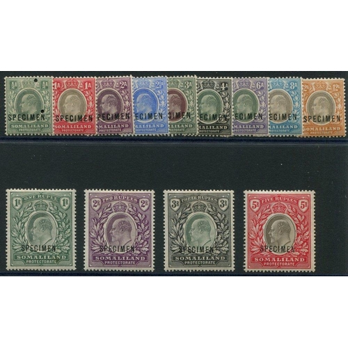 1460 - 1904 CCA & CCC set, optd SPECIMEN, generally fine (½a Security punch), SG.32s/44s. (13) Cat. £225...