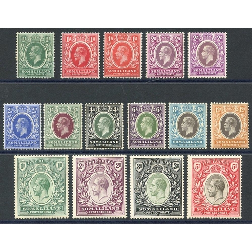 1462 - 1912-19 MCCA set, M (2½a thinned), SG.60/72. Cat. £225...