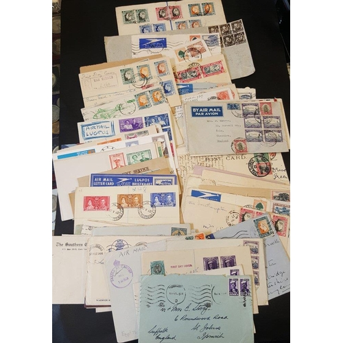 1465 - 20thC assembly of covers & postcards with reg KGV covers, WWI circular censor marks on PPC and cover...