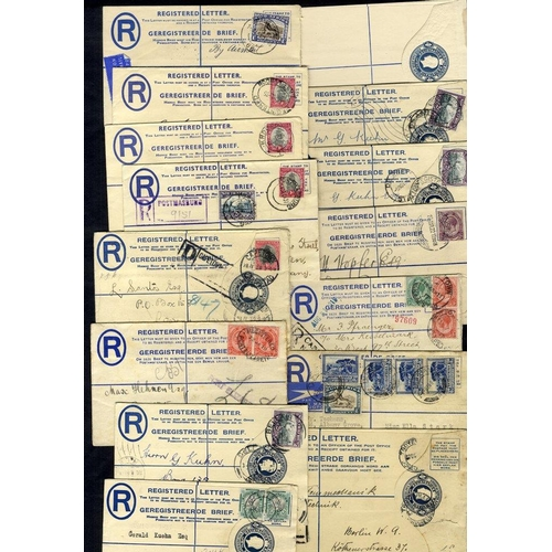 1468 - 1912-82 registered postal stationery envelopes (50) - unused (11), postally used (39), good variety....